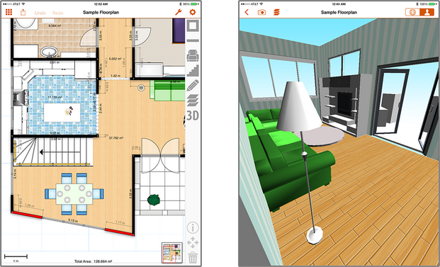 Floorplans Pro App for iPad Adds 3D Viewer